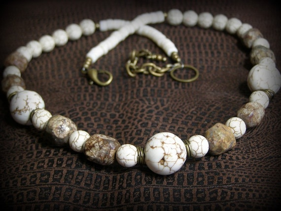 White Buffalo - Turquoise Jasper Necklace