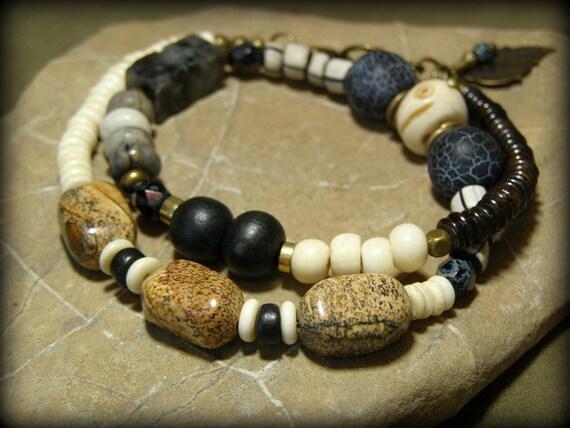 Beaded Bracelet - Native Bracelet - Tribal Bracelet - Tribal Choker Necklace - Southwest Jewelry