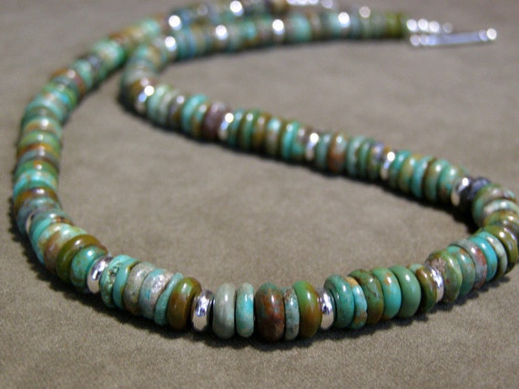 turquoise necklace mens necklace by stoneweardesigns
