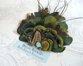 Artemis Feather Hair Clip - natural feather woodland fascinator