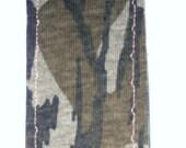 New handmade green camouflage print fabric chalkboard bookmark