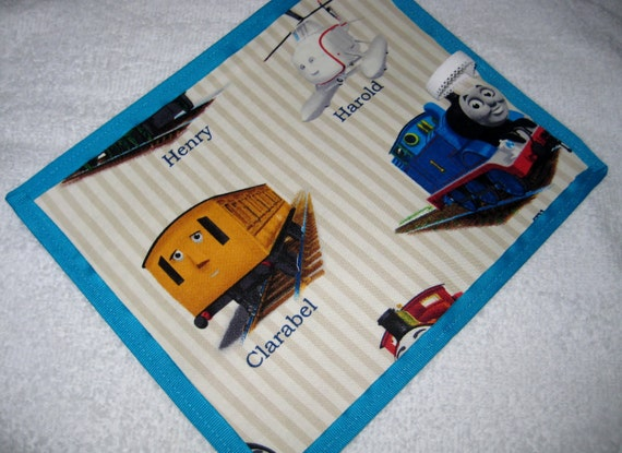 New thomas the tank travel chalkboard placemat