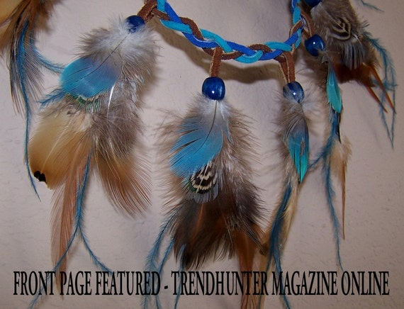 NEYTIRI AVATAR inspired LEATHER and FEATHER NECKLACE FN1  Free Shipping