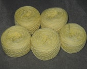 RESERVED for labtech89 5 Mountain Dew yellow soda pop yarns