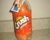 Orange Crush Soda Yarn - hand dyed with soda - fingering sock weight wool/nylon blend