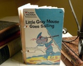 Little Gray Mouse Goes Sailing Journal Upcycled from Vintage Book