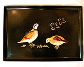 Vintage COUROC Bird Serving Tray Large Size Mid Century