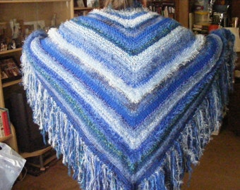 Knitted Triangle Shawl
