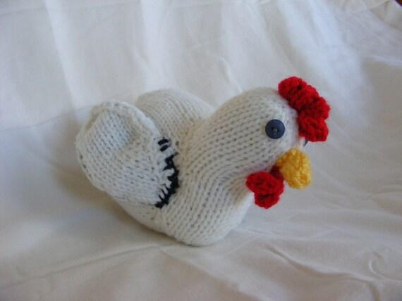 Knitted White Chicken Amigurumi