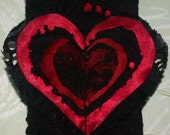 BLACK Lace RED Heart of GRACE Headband FREE Shipping