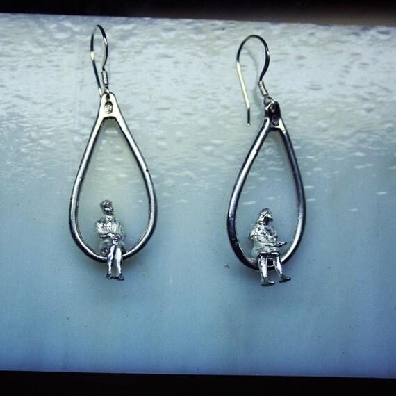 Swinging Ladies Earrings (Sterling Silver)
