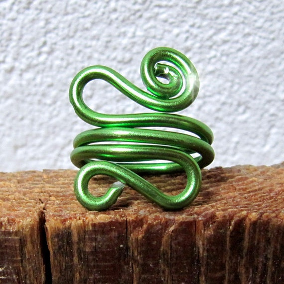 Ring Green Sigma Aluminum Anodized