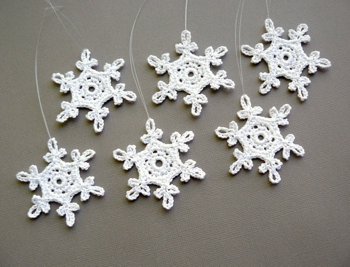 Crochet Snowflake : Small Crochet Snowflakes Snowflake B54 in by CaitlinSainio