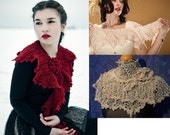 pdf KNITTING PATTERN lace knitted scarf victorian style I