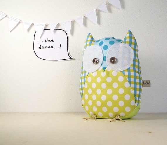 Oliviero the owl - Handmade in Italy