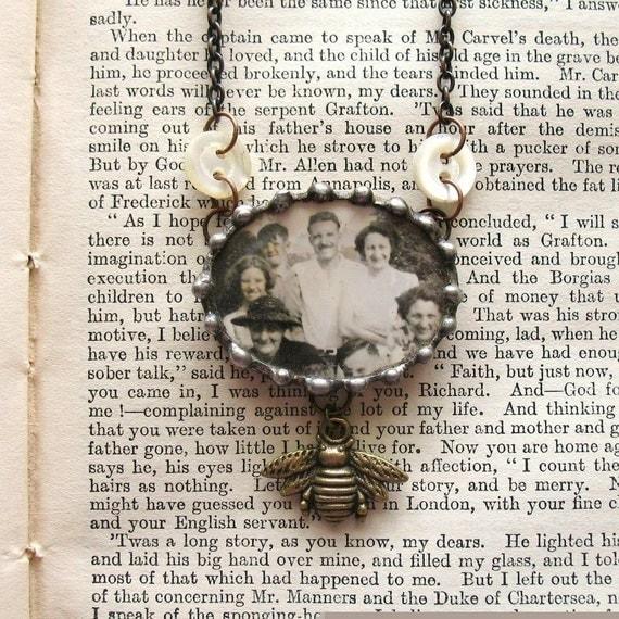 Summer Memories - Vintage Inspired Assemblage Necklace