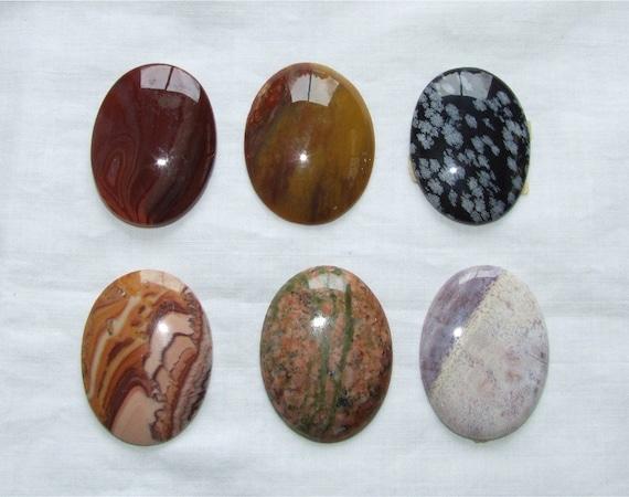 DeStash lot of Gemstones / Gemstone Cabochon Lot / Loose Cabochon Lot / Anna Lemons Jewelry