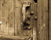 New Orleans Photography - Sepia Door in New Orleans French Quarter - 8x10 Fine Art Photograph - sepia - affordable home decor
