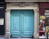 Robins Egg Blue Doors in Paris, France 16x20 FIne Art Photograph - French Decor