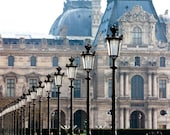 Best Seller, Paris Photography, At the Louvre, Early Morning Light in the city of Paris, France, Paris Architecture, french home decor