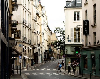 Paris Photography, Walking the Paris Streets, Rue Jacob in St Germain,Paris decor, Paris street photography, Dining Room Decor, Architecture