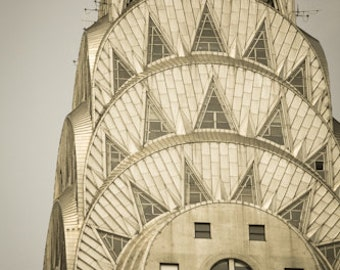 Chrysler Building, Art Deco, Gold, NYC Photography, NYC Romance in the city, Fine Art Photograph, New York City Architecture , NYC wall Art
