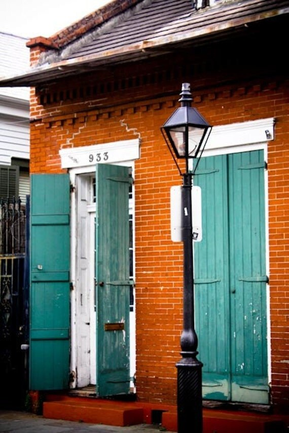 Painted Shutters In The French Quarter 8x10 Photograph