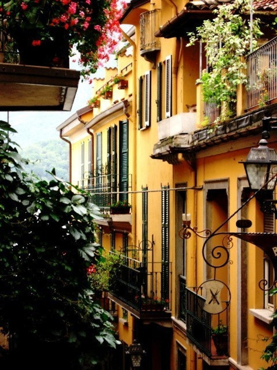 Items similar to italy photography bellagio italy for Balcony in italian