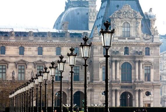 Paris Photography, Early Morning Light in the city of Paris, France, Louvre, Black Iron Lanterns, Paris wall art, Paris Architecture