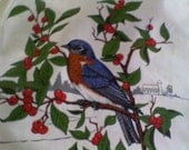 American Song Bird Bluebird Fabric Panel