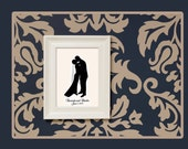 Custom Silhouette Full Body Wedding Couple Portrait - Unframed 11x14 Art Print