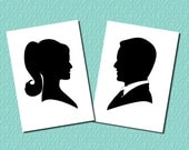Print Your Own - Custom Silhouette Portrait of Bride OR Groom - Digital Silhouette - Perfect Holiday Gift - Unique Fathers Day Present