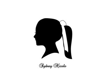 Custom Silhouette Portrait - 8 x 10 Art Print - Traditional Artwork - Great Birthday Gift