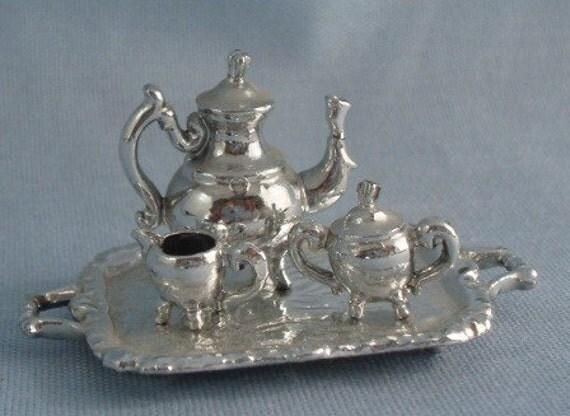 Miniature Silver Plated Tea Set - B