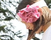 Audrina Floral Cluster Headband in pink
