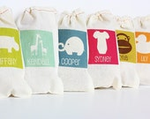 Reserved Listing for piggyla  - Personalized Party Favor Bags - Set of 9 by Perideau Designs