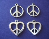CLEARANCE Peace Signs Mixed Lot of 4