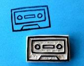 Tape Cassette Hand Carved Stamp