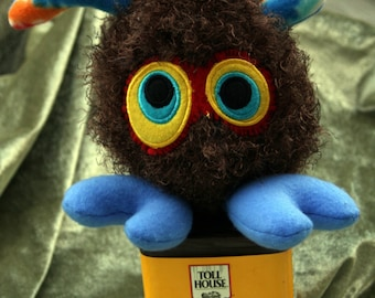 Brown Plush Creature, Crochet Plushie Monster Gift Toy Plushie