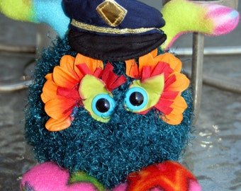 Plush Crochet Creature, Cute Monster Plush Toy, Gift For Friend Monster Humor Toy