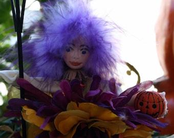 Flower Fairy Art Doll, Fairy Ornament, Collectible, Woodland Fairy