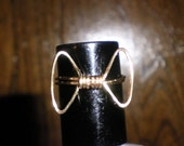 Gold Bowtie Ring for machinegunwoman - Size 8