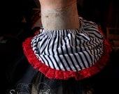 Stripey pirate bustle tutu skirt by SheSawRed
