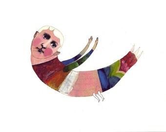 archival art print, Bird Flew Over