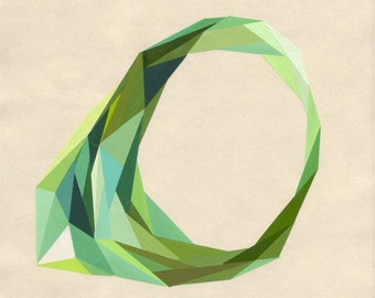Archival art print of the RING OF GREEN