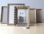 instant collection tiny vintage metal filigree frames