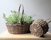 willow twig vintage gathering baskets rustic garden decor