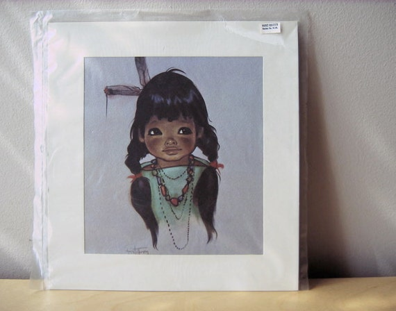 Vintage Gerda Christoffersen Navajo Indian Child Art Print 1