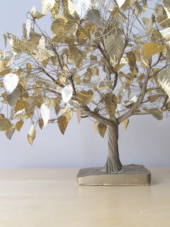 Under The Dream Tree Vintage Gold Wire Sculpture By Ionesattic