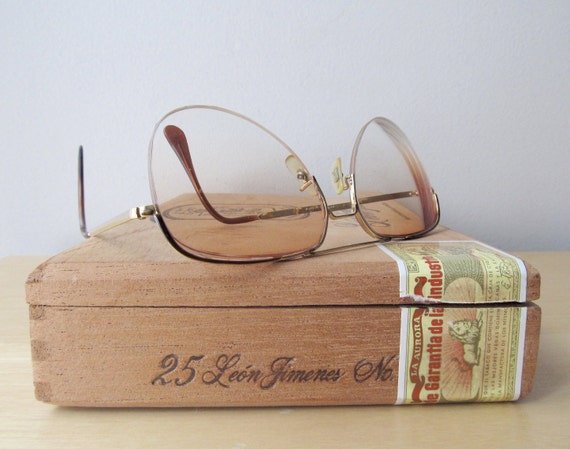 vintage mens aviator sunglasses wire rims AO american optical